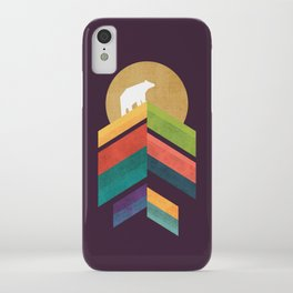 Lingering mountain with golden moon iPhone Case