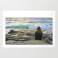 Sister and the Sea Art Print