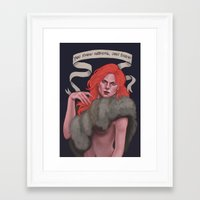 ygritte Framed Art Prints featuring Ygritte by Sara Meseguer
