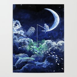 The Doctor Dreaming Of Fishing Poster