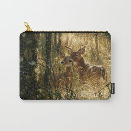 Whitetail Deer - A Golden Moment Carry-All Pouch