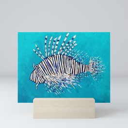 Lion Fish 3, a pretty predator & invasive species Mini Art Print
