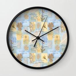 Botanical Sketch book Wall Clock