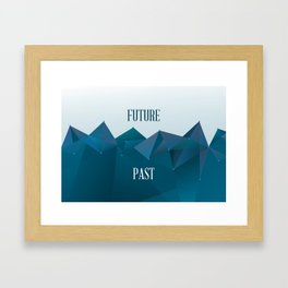 Past and Future Framed Art Print
