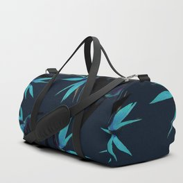 Fall print in navy and bright blue (also available in forest green and mustard) Duffle Bag