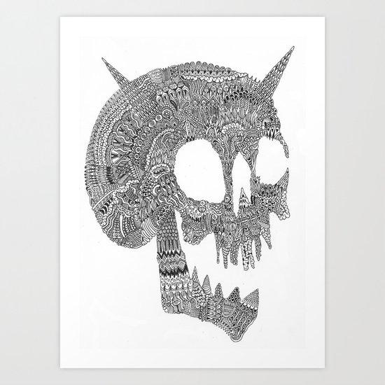 Skull Party Art Print