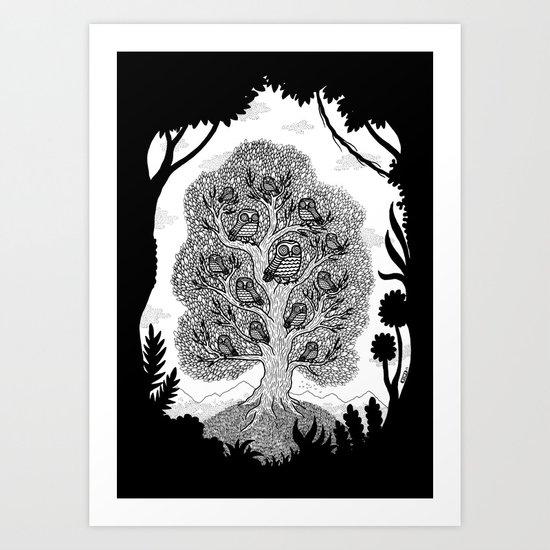 The Hypnowl Council Art Print