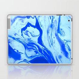 Blue Liquid Marble Laptop & iPad Skin