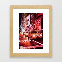 Glittering Light of New York City Framed Art Print