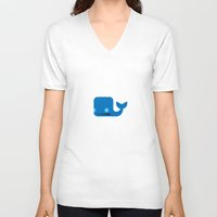 moby dick V-neck T-shirts featuring Delightful Moby Dick by Phillip Gessert