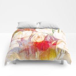 Tulip Fever Abstract Art Comforters