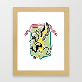 Golden griffin  Framed Art Print