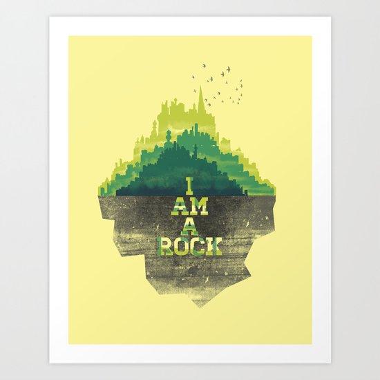 I am a Rock Art Print