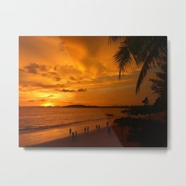 Sunset in Krabi Ao Nang Thailand Metal Print
