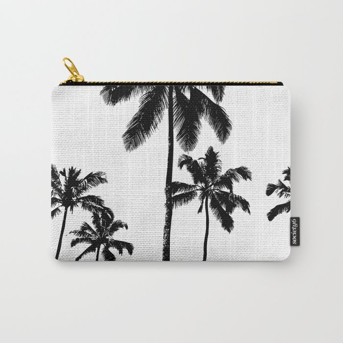 Monochrome tropical palms Carry-All Pouch
