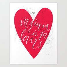 Virginia is for Lovers Art Print