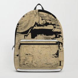 Vintage Steam Train on Postage Stamp Backpack