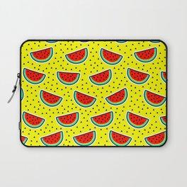 Watermelon on yellow Laptop Sleeve