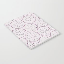 Sanddollar Pattern in Purple Notebook