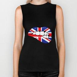 United Kingdom Lips Biker Tank