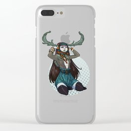 Winter Horns Clear iPhone Case
