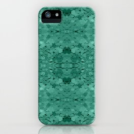 Jade Sequin Pattern iPhone Case