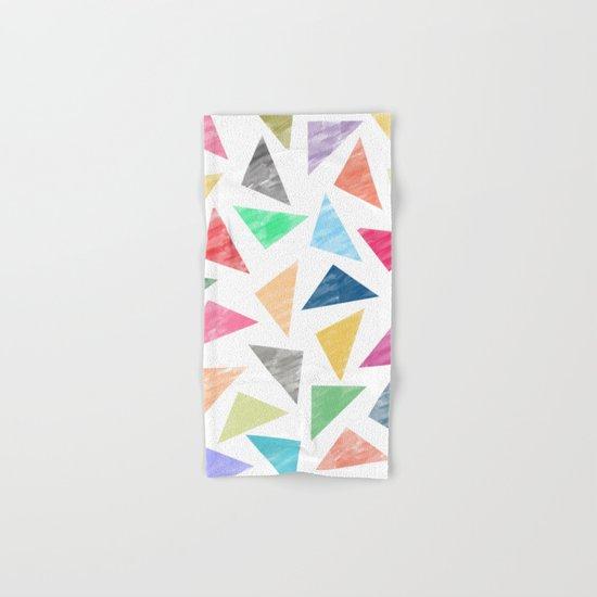 Colorful geometric pattern  Hand & Bath Towel