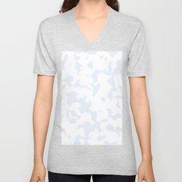Large Spots - White and Pastel Blue Unisex V-Neck