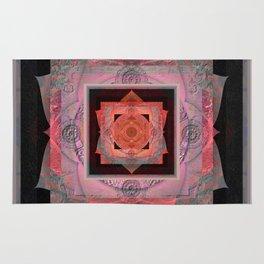 Heart Balance Meditation Sacred Geometry Mandala Rug