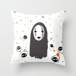 No face and the sprites Throw Pillow
