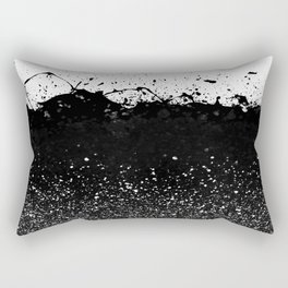 Black and White Splatter Theme Rectangular Pillow
