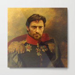 Hugh Jackman - replaceface Metal Print