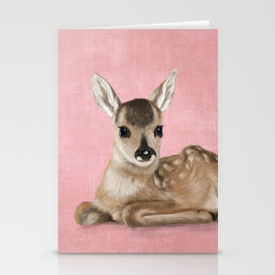 Small fawn Stationery Cards