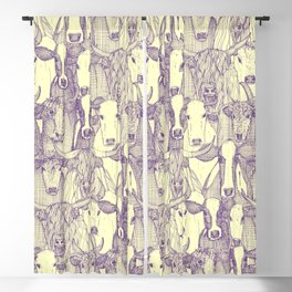 just cattle purple cream Blackout Curtain