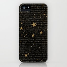 Paper Texture Stars Illustration from A high-school astronomy - Hiram Mattison - 1859 iPhone Case
