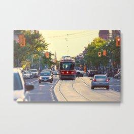 Summer on College St. - College Street Streetcar Toronto Metal Print