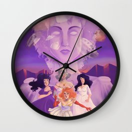 Lesbian Pirates From Outer Space in Fallen Gods Cover Wall Clock