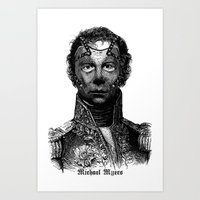 michael myers Art Prints featuring Michael Myers by DIVIDUS