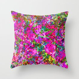 Floral Abstract Stained Glass G548 Throw Pillow