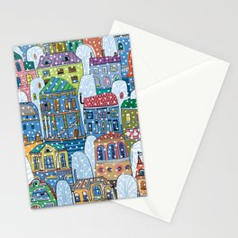 winter in the city Stationery Cards