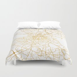 DUBLIN IRELAND CITY STREET MAP ART Duvet Cover