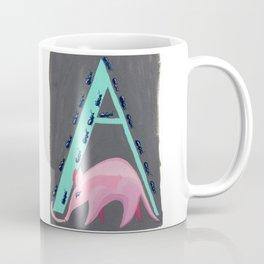 A is for Aardvark Letter Alphabet Decor Design Art Pattern Coffee Mug