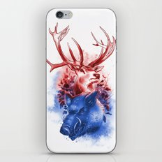 Red Stag and Blue Boar iPhone & iPod Skin