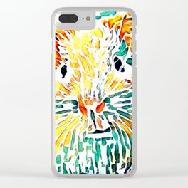 Hot painted Guinea Pig Clear iPhone Case