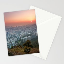 Sunrise over the City Stationery Cards