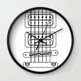 Heart Strings Guitar Wall Clock