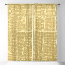 Categorize Print in Yellow Sheer Curtain