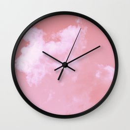 Floating candy with beige pink Wall Clock