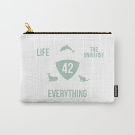 Life The Universe And Everything 42 Answer To Life T-Shirt Carry-All Pouch