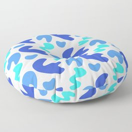 Matisse inspired abstract shapes Floor Pillow
